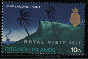 1973 Pitcairn Islands 118 Overprint - Royal Visit 7,00 €