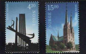 Norway Scott 1266-1267 MNH** Architecture set 2000