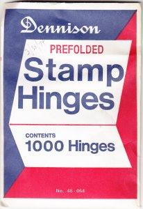 Dennison Prefolded Stamp Hinges, Unopened (S18172)