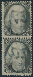 #73 F-VF USED PAIR WITH STEAMSHIP CANCEL CV $340 BR7618
