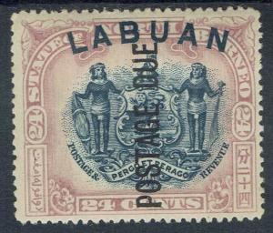 LABUAN 1901 POSTAGE DUE ARMS 24C PERF 16