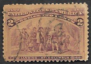 US Scott #231 2c Columbus (1893) Used
