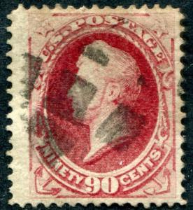 United States (US) 155 Used, Good margins, light cancel, 90c Perry