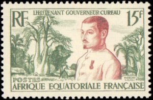 French Equatorial Africa #187, Complete Set, 1954, Never Hinged