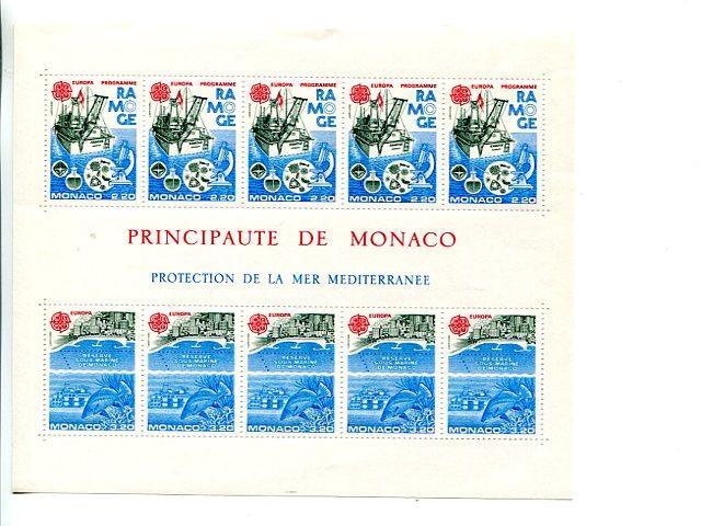 Monaco 1986 Europa mini sheet   Mint VF NH