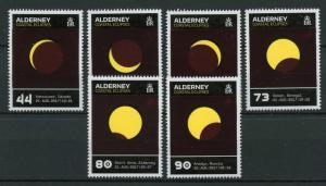 Alderney 2017 MNH Coastal Solar Eclipses Eclipse Sun 6v Set Thermochromic Stamps