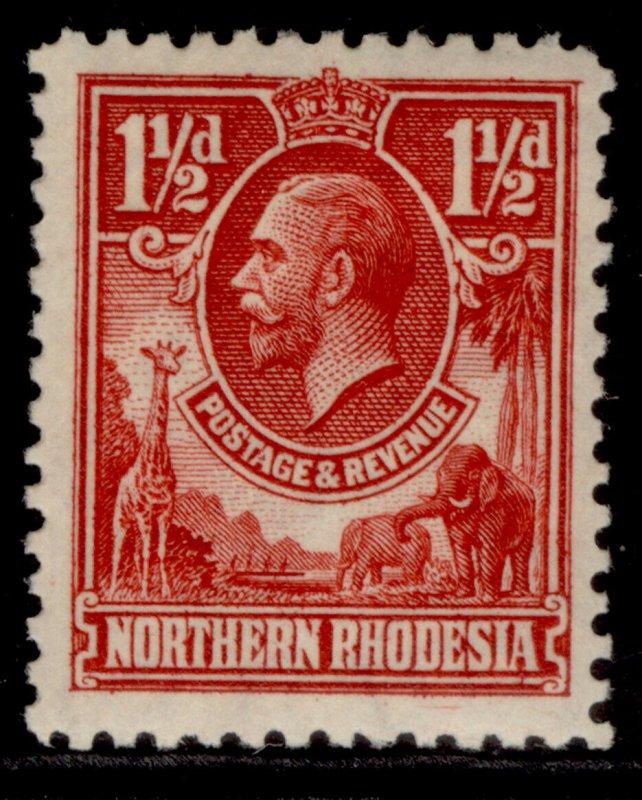 NORTHERN RHODESIA GV SG3, 1½d carmine-red, M MINT.