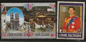 Nickel Auction. Cook Islands Royalty 3 vls nh [ah03]