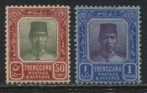 Trengganu 1921-29 50 cents and $1 mint o.g.