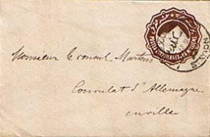 Egypt 1m Sphinx and Pyramid Envelope 1894 Alexandrie, Station Printed matter ...