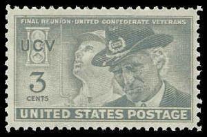 PCBstamps     US # 998 3c Confederate Veterans, 1951, MNH, (5)