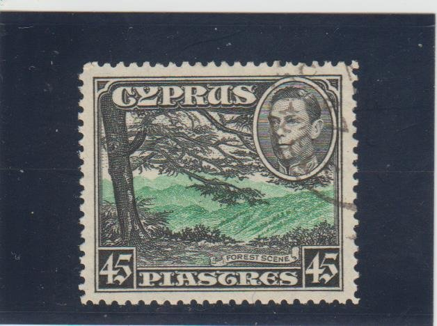 Cyprus  Scott#  153  Used  (1938 Forest Scene)