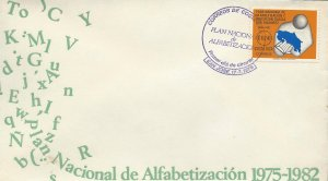 COSTA RICA NATL LITERACY PLAN,MAP, READER with BOOK, Sc 275 FDC 1978