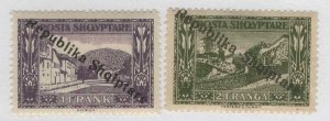 Albania #184, 185 > Issues of 1925 > MH > SCV $12.50