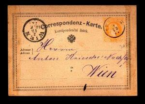 Austria 1879 Postal Card to Vienna - L11306