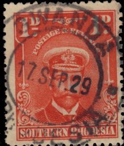 SOUTHERN RHODESIA - 1929 SG2 CANCELLED GWANDA/ S. RHODESIA DOUBLE CDS -b