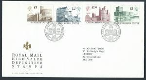 GB QEII 1988 Edinburgh Cancel High Value  Castles SG 1410...
