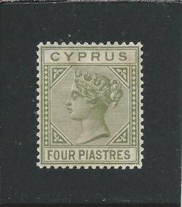 CYPRUS 1882-94 4pi OLIVE-GREEN MM SG 35 CAT £50