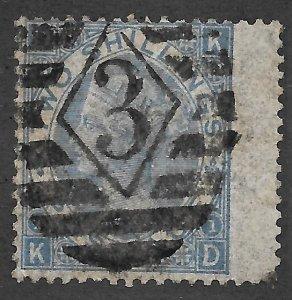 Doyle's_Stamps: Sound 1867 Blue Victorian 2 Shilling Scott #55   cv: $200