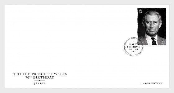 H01 Guernsey 2018 HRH The Prince of Wales 70th Birthday  FDC MNH Postfrisch