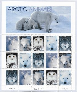 USA 3288-3292  MNH SHEETS ARCTIC ANIMALS