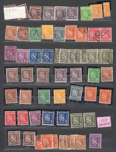 FINLAND COLLECTION LOT VALUES TO $30(2) OG NH-H CDS 1930 COAT OF ARMS
