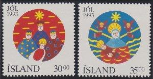 Iceland 777-778 MNH (1993)