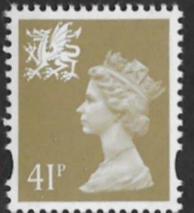 Great Britain-Wales  #WMMH64  41p QE II - Dec 7 1993  (1) Mint NH