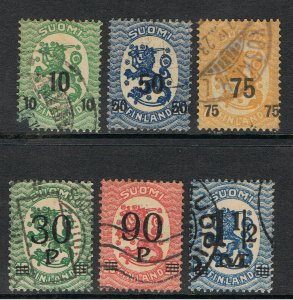FINLAND 1919 - 21 SURCHARGES