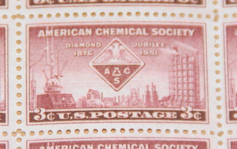 1951 sheet, American Chemical Society Sc# 1002