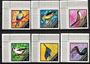 GUINEA 1971 BIRDS  SET 6 FU CTO