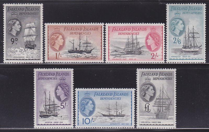 Falkland Is 1L19-1L33 VF-OG-MLH cv $ 241 ! see pic !
