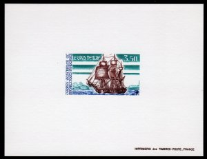 FSAT/TAAF 1991 Sc#136 Ship Le Gros Ventre Deluxe Souvenir Sheet Imperforated MNH