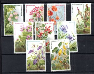 Kenya 1983 Flowers high values to 40/- MNH WS16006