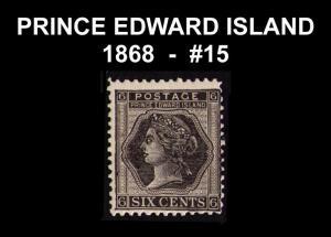 CANADA, PRINCE EDWARD ISLAND 1868 QUEEN VICTORIA RARE #15 FINE MNH CAT $10 (V770