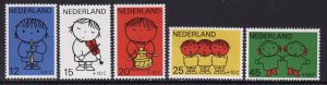 Netherlands #B452-56 F-VF Mint NH ** Child Welfare