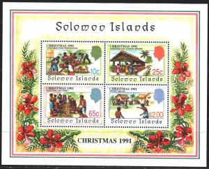 Solomon Islands. 1991. bl30. Christmas. MNH.