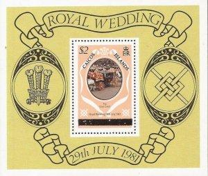Turks & Caicos Islands - 1981 Royal Wedding - Souvenir Sheet - Scott #36