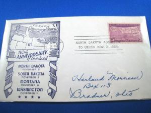 U.S. FDC - SCOTT # 858 - NORTH DAKOTA