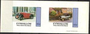 {E129} Eynhallow Scotland Classic Cars (4) Sh.2 Imperf. MNH Cinderella !!