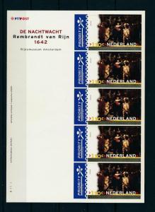 [16619] Netherlands Niederlande 2000 Art Rembrandt 100c Nachtwacht MS MNH
