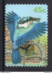 Sacred Kingfisher (Todiramphus sanctus) postally used 45c BOOKLET SELF-ADHESIVE