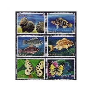 Greece 1397-1402,MNH.Michel 1456-1461. Fauna 1981.Cockles,Butterflies,Fish.