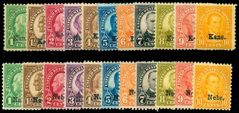 U.S. 1923-37 ISSUES 658-79  Mint (ID # 85069)
