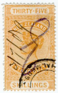 (I.B) New Zealand Revenue : Stamp Duty 35/-