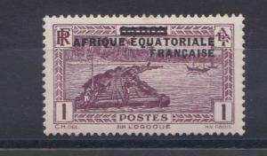 FRENCH COLONIES EQUATORIAL AFRICA  1932  1C  CLARET  M H