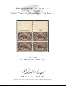 1898 TRANS-MISSISSIPPI ISSUE CATALOG 2013, SIEGEL AUCTION, 69 PAGES