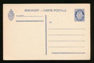 NORWAY Mi. P60 POSTAL STATIONERY POSTAL CARD 15o