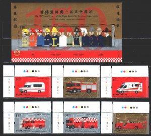 Hong Kong. 2018. 2188-93, bl337. Fire equipment, cars. MNH.