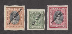 India - Indore Scott #31-33 MNH
